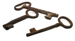 19th Century American Door Key
